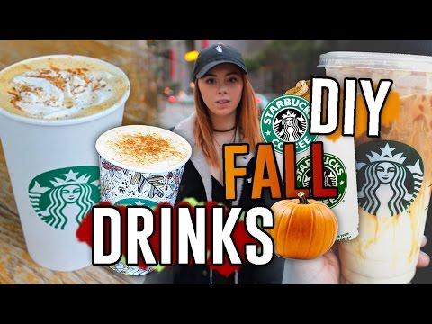 DIY Starbucks Drink Recipes for the Fall!! Pumpkin Spice Frap, Macchiato, & MORE // Jill Cimorelli