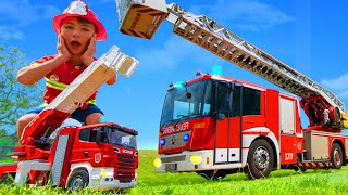 Pretend Play with Real Fire Truck & Toys for Kids