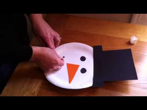 Children's Christmas Crafts - Paper Plate Snowman