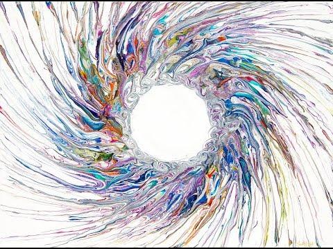Fluid Acrylics Dynamic Circle With Tendrils # 2477-4.09.18