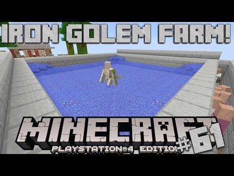 Minecraft PS4 Survival #61 | Iron Golem Farm!
