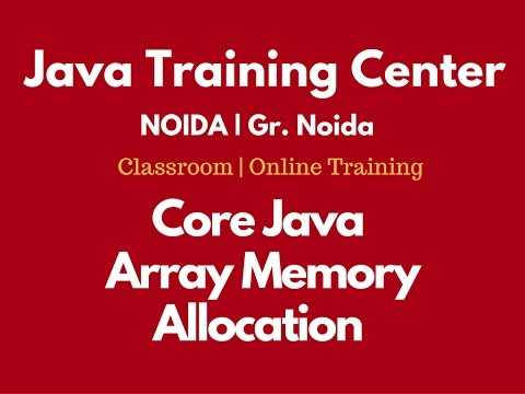 Array Memory Allocation in Java by Som Sir