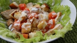 Sezar salatinin hazirlanmasi