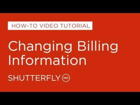 Changing Billing Information