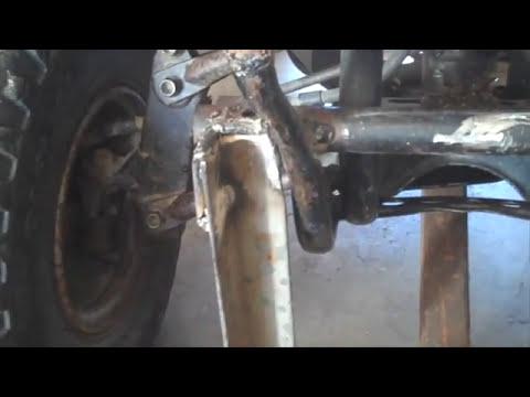 Homemade ATV plow bracket