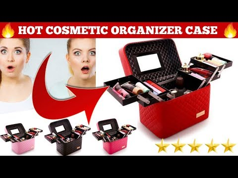Multi-Layer Storage Travel Case - Cosmetic Makeup Organizer Bag