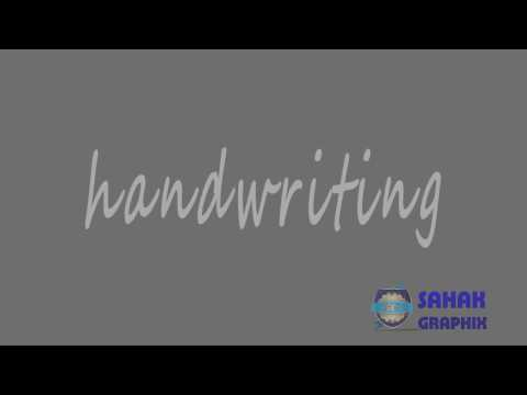 After Effect Tutorial   Handwriting Text logo Reveal