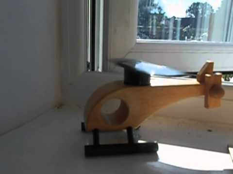 select solar wooden helicopter
