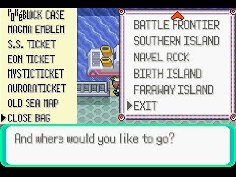 Pokémon Emerald All Event Island (Ticket+Enabler)