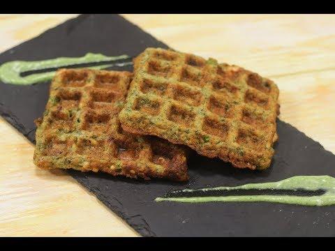 Moong Dal Waffle In Gujarati | Snacky Ideas by Amisha Doshi | Sanjeev Kapoor Khazana