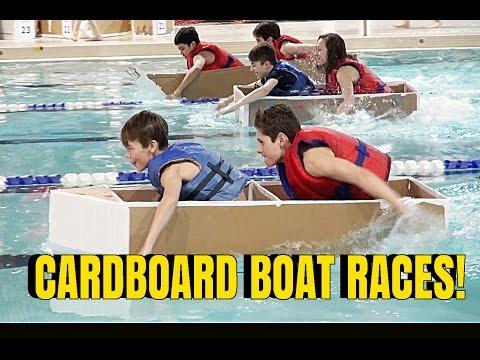 🌊 🚤 CARDBOARD BOAT RACE! Championships!!! 🚤 🌊