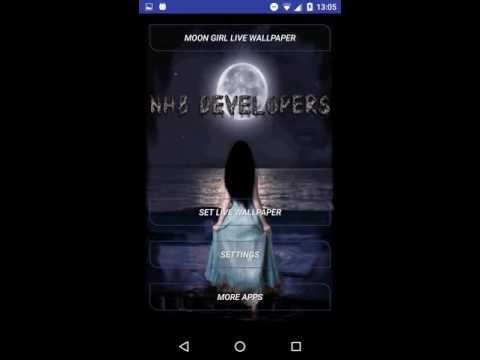 Moon Girl HD Live Wallpaper