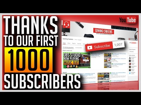 1000 Subscriber Thank You - Gaming Careers Growth 👍