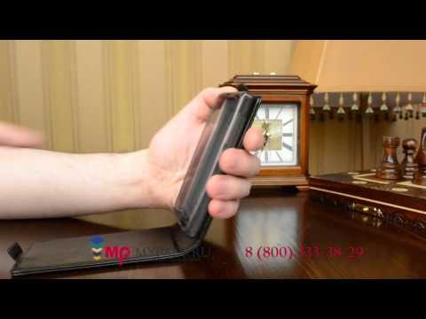 Фирменный оригинальный вертикальный откидной чехол флип для Microsoft Nokia Lumia 435 черный кожаный
