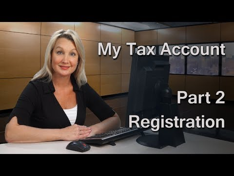 My Tax Account 2 – Registration