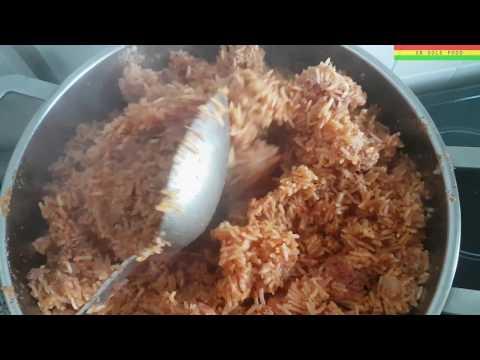 Jollof Rice Corn Beef & Salad