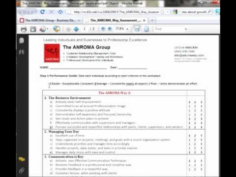 Professional Development:  Self Assessment Tutorial