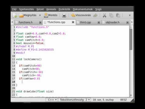 OpenGL (SDL,C++) tutorial 14 - simple 3D FPS camera (part 1)