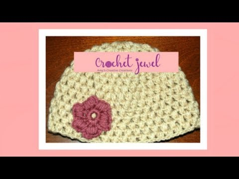 Crochet Puff Stitch Hat (12 Month old-3 year old & 3-10 year old) Part II