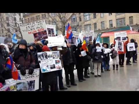 Khmernewstime - Khmer in Canada Is Demanding Hun Sen to Step Down - Part1/2
