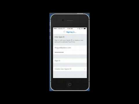 Changing Apple ID for Facetime iOS7