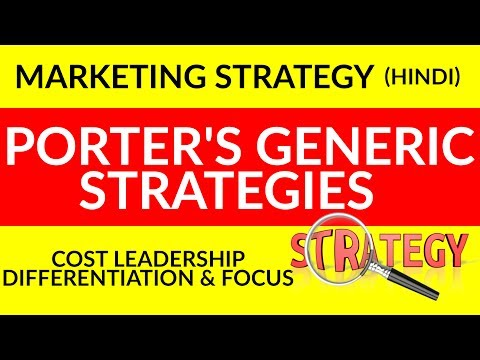 Marketing Strategy| Porter's Generic Strategies in Hindi| Cost leadership,Differentiation and Focus