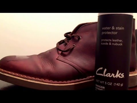 Clarks Boots Water and Stain Protector Tutorial - How To Apply