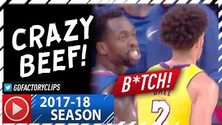 Lonzo Ball vs Patrick Beverley CRAZY Beef Highlights (2017.10.19) - Calling Lonzo a