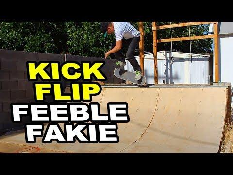 KICKFLIP Feeble To Fakie - BACKYARD MINIRAMP