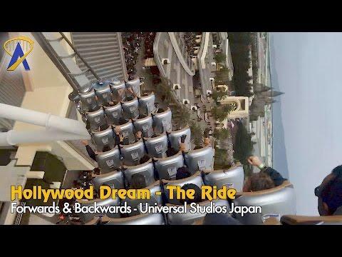 Hollywood Dream Coaster POV at Universal Studios Japan - Forwards and Backwards