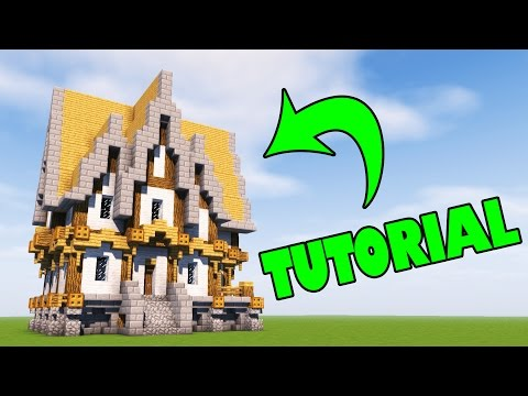 Minecraft | How to Build a Big Medieval House [PC/XBOX/PE]