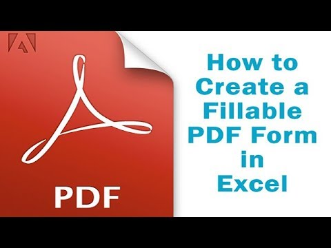 How to Create a Fillable PDF Form in Excel