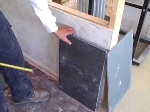 Cutting and marking slate tiles