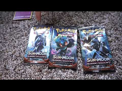 Pokemon TCG Burning Shadows Pack Opening!  The Hunt for a GX is a on!