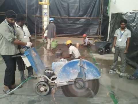 Concrete diamond cutting contractor Tritherm chennai india 9884846446