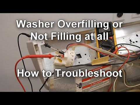 How to Test the Pressure Switch on your Washer - Not Filling or Overfilling with Water