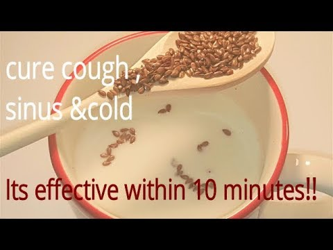 -Best &fast cure for cough,sinus,cold/ Its effective within 10 minutes!!