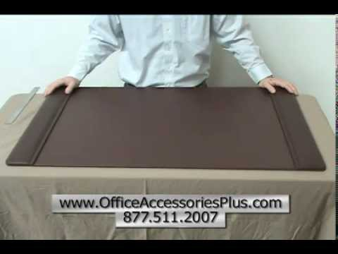 Chocolate Brown Leather 38 x 24 Desk Pad - Office Accessories Plus