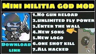 mini militia mod apk god mode