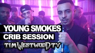 Young Smokes, Flames & Mackii freestyle - Westwood Crib Session