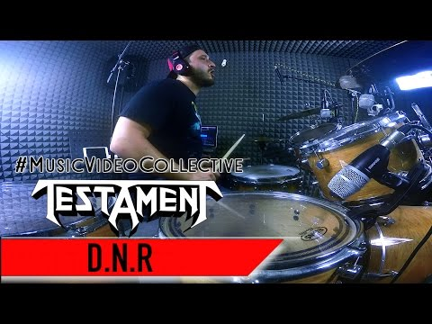 TESTAMENT - D N R (Do not Resuscitate) - Drum cover Alessandro Cafagna