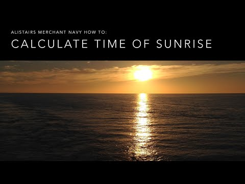 How To Calculate Sunrise!