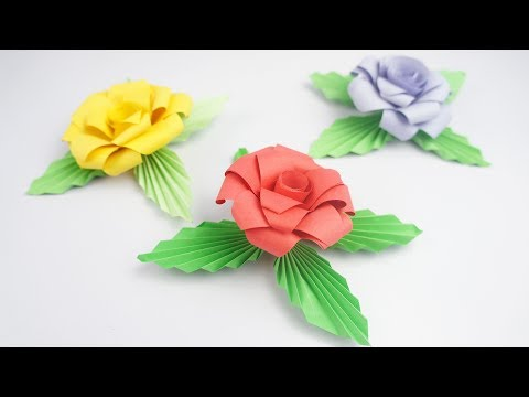 Beautiful Paper Rose - Easy DIY TCraft