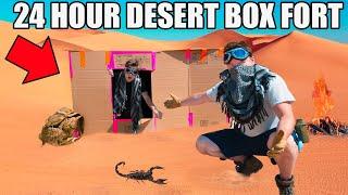 24 HOUR DESERT BOX FORT CHALLENGE!! 📦☀️