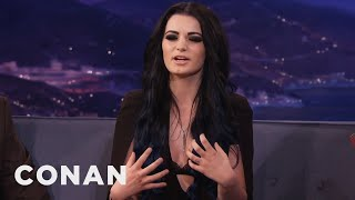 Paige Teaches Conan To Let Out A Primal Yell  - CONAN on TBS