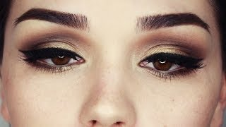 Date Night Gold and Browns makeup tutorial