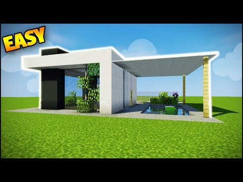 Minecraft: How to Build a Modern House - Easy Tutorial (How to Build a House in Minecraft)