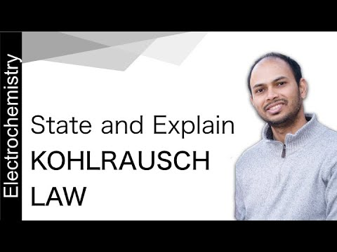 State and Explain Kohlrausch Law