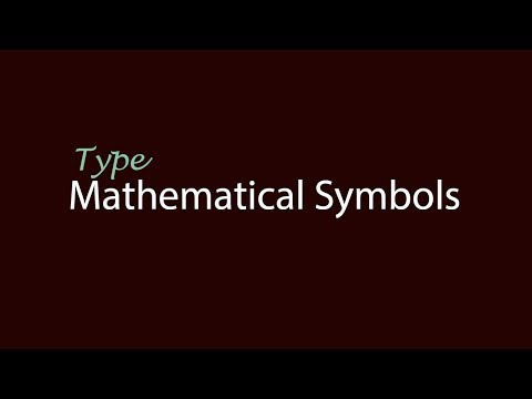 How To Type Mathematical Symbols With Keyboard - Urdu/Hindi
