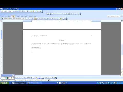 How to Make a Template for APA Format in Word 2003
